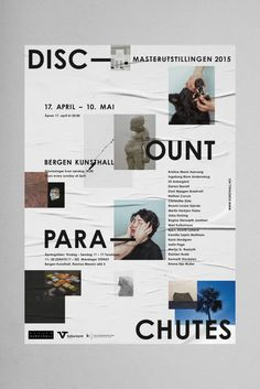 """johangiraud: """"Tobias Faisst – Discount Parachute, Bergen Kunsthall """" - New Sites Graphisches Design, Buch Design, Creative Design, Print Design, Logo Design, Poster Layout, Poster S, Typography Poster, Print Layout"""