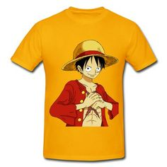 a111a4b497a One Piece Luffy Hold Fists On Hips Short Sleeve T-shirts on Sale-Art    design T-shirts SAVE up to off