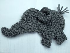 Crochet Elephant Applique | Crochet elephant appliqué. Inspiration piece.