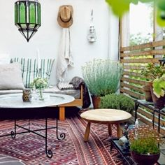 If you have an outdoor space and would love to add an ethnic flair to it, here are some tips to get you going. (image via Elle Interior)