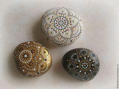 Купить Расписные интерьерные камни - камни, камушки, точечная роспись, point-to-point...BEAUTIFUL MANDALAS!!
