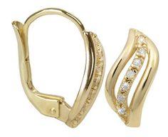 Brilio Cercei din aur cu cristale 239001 00688 - 1,85 g Aur, Gold Earrings Designs, Jewelries, Designer Earrings, Gold Rings, Rose Gold, Bracelets, Fashion, Fragrance