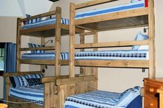 6 person bunk bed wall