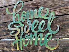 Save 10% Home Sweet Home Sign, Farmhouse Decor, Shabby Chic, Rustic Sign