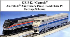 Kato N Scale GE P42 Genesis Locomotives at BLW.