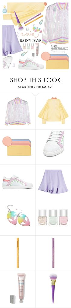 """Puddle Jumper: Rainy Day Outfit"" by ewa-naukowicz ❤ liked on Polyvore featuring Roksanda, Sophia Webster, Carven, Nails Inc., Too Faced Cosmetics, By Terry, Miu Miu and rainydayoutfit"