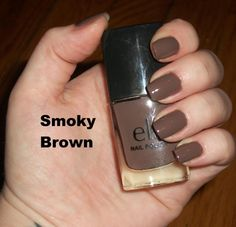 e.l.f Nail Polish in Smokey Brown