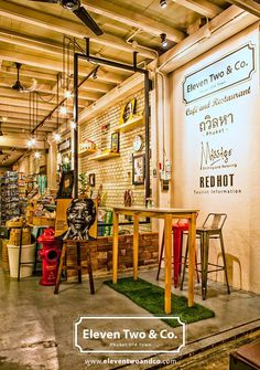 Eleven Two & Co is a lunch restaurant, cafe and design store in Phuket's Old Town area. Old Town Restaurant, Lunch Restaurants, Phuket, Traditional, Store, Design, Larger, Shop