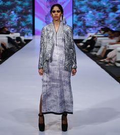 Black & White Cotton Tie Dyed Jacket #designerwear #satin #crepe #fusionwear