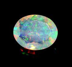 .1.95 Carat Natural Ethiopian Opal Faceted Opal Cut AAA Opal Loose Gemstone #Opalcreation