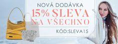 📢📢📢 Nová dodávka kožených kabelek! -1⃣5⃣% na všechno! 👉 https://panikabelkova.cz/zobrazit-vse 👈 ❗Heslo: SLEVA15❗