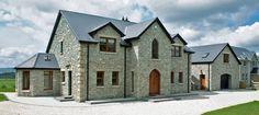 Silver Quartzite Machine Block - McMonagle Stone Stone House Reno, Stone Front House, Stone House Revival, House Designs Ireland, Houses In Ireland, House App, Cafe House, Building Stone, Building A House