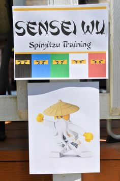 Ninjago Party Activity - Ninjago Spinjitzu Training. Ninjago Sensei Wu Says.. Ninjago 6th Birthday Party! Ninjago Party Ideas. - Not So Perfect.