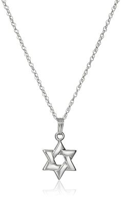 14k Gold Solid Star of David Pendant Necklace, 18' ** Click image for more details. (This is an Amazon Affiliate link and I receive a commission for the sales)