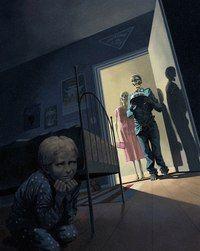 Ossi Hiekkala- Birthday Boy, used in Tähtivaeltaja Scifi magazine Arte Horror, Horror Art, Dark Art Illustrations, Illustration Art, Creepy Images, Arte Obscura, Creepy Art, Dark Fantasy Art, Surreal Art