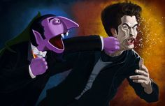 Sesame Street's The Count Knocks out Edward from Twilight  (very amusing)