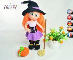 PATTERN - Cute Witch (crochet, amigurumi)