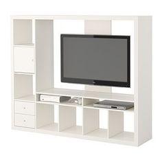 "Ikea, Expedit, TV Storage Unit, Width: 185 cm, Depth: 39 cm, Height: 149 cm, Max. load TV: 25 kg Max. screen size flat screen TV: 55 """