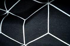 1101-069 interieurstof abstract zwart