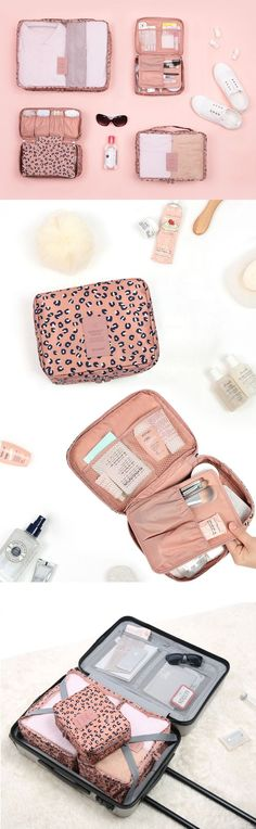 A must-have for my next vacation! The Pattern Ladies Travel Pouch Set will make packing so much simpler! This set comes with 4 adorably patterned pouches that conceal my essential belongings in the cutest way possible! Now I can spend my energy actually p