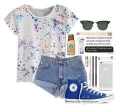 mich match by abbeyso on Polyvore featuring polyvore fashion style Converse Ray-Ban Estée Lauder Très Pure Kate Spade clothing