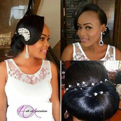 Beautiful Hair and Make up by Hall of Expression. Find this and Many more wedding vendors on tikaysbridal.com from all ten regions in cameroon. click here http://ift.tt/2kuHNgW -