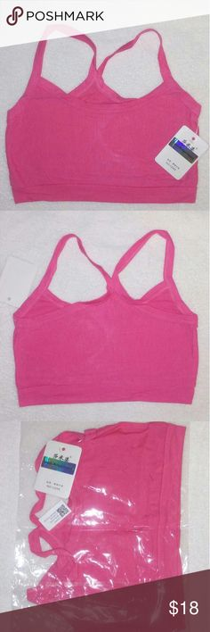 Women's Pink Sports Bra crop top cami Gym Yoga You are Viewing 1 Brand New Women's Sports Bra Watermelon  petite Solid crop top cami Cotton Gym Yoga Bra Wire Free one size. Lenght 28cm/11.02 inches Bust size 64-88cm /25.2 inches 34.65 inches, CHEST PADS are NOT INCLUDED. Super elastic, breathable & Comfortable, 80  % Cotton 20 % Spandex made in China. Majestic Michigan Products Intimates & Sleepwear Bras