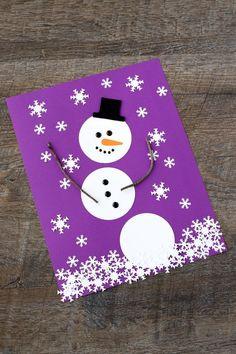 Paper Snowman Art - Creative winter art for kids!