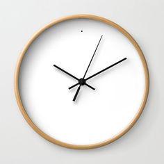 Minimalistische Wanduhr, einfache weiße moderne Wanduhr, minimalistisch, Gesichtslos - schwarz, weiß, Holz