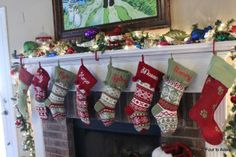 How to hang a lot of stockings