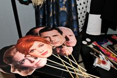 Mad Men Party: Character Faces for 'photo booth' - from AMC.com