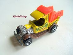 Vintage Hot Wheels Dump Truck 1977 by WylieOwlVintage on Etsy, $8.00