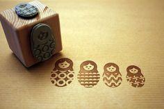"""Matruschka"" dice stamp by Perlenfischer Design"