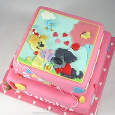 Woezel en pip cadeautjes taart