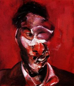 Francis Bacon, Three Studies for a Portrait of Lucian Freud (2nd panel), 1965