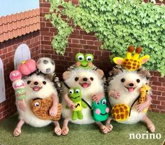 Cute Hedgehog, Needle Felting, Wool Felt, Funny Animals, Sculpting, Toys, Handmade, Heart, Physical Intimacy