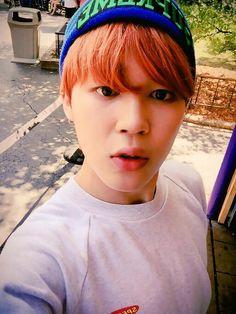BTS Tweet - Jimin (selca) 150805 - 한국이다 오랜만이야 #JIMIN -- tran: It's Korea, long time no see #JIMIN --- Trans cr; Mary @ bts-trans