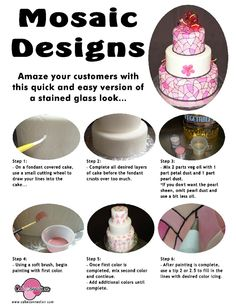 Mosaic Design Cake Tutorial