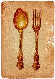 fork and spoon Rustic Kitchen Wall Decor, Lemon Kitchen Decor, Primitive Kitchen Decor, Rooster Kitchen, Pioneer Woman Kitchen, Kitchenware, Tableware, Decoupage, Kitchen Installation