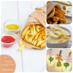 Cómo hacer patatas fritas sanas Pollo Frito Estilo Kentucky, Snack Recipes, Snacks, Empanadas, Sin Gluten, Tapas, Chips, Food And Drink, Health Fitness