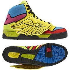Men's Jeremy Scott Wings Shoes, Sun / Black / Poppy