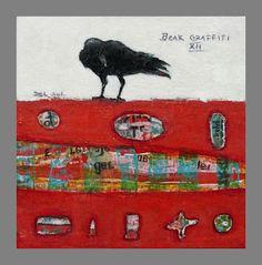 "Raven painting- ""Beak Graffiti XIII"" by Cristina Del Sol"