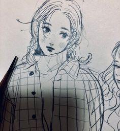 田村 (@morikomorl) / Twitter Anime Drawings Sketches, Cool Drawings, Character Art, Character Design, Cute Art Styles, Estilo Anime, Pretty Art, Art Sketchbook, Aesthetic Art