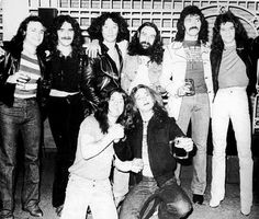 Black Sabbath & Van Halen together. Check out Ozzy in the front row next to David Lee Roth