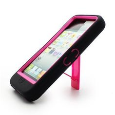 Apple iPhone 5 Hybrid Case with Kickstand- Pink ($0.01)