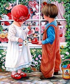 Hansel & Gretel? Our children are sidetracked by many things, especially things they like. //// Susan Rios art
