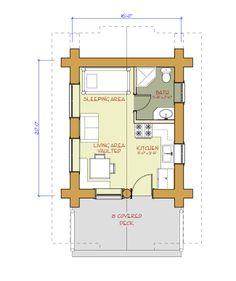 Deer Lodge 18x22 rendition   House plan ideas   Pole barn house