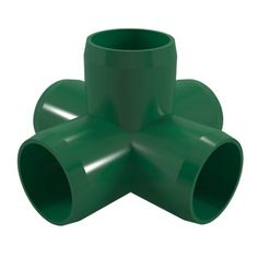 Formufit F0015WC-GR-4 5-Way Cross PVC Fitting, Furniture Grade, 1 inch Size, Green, 4-Pack