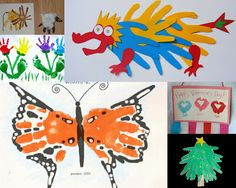 A gazillion handprint crafts - seasonal ideas for every month and holiday all year round.