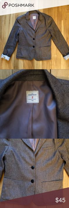 """🆕 Tweed GAP Academy Blazer Tweed GAP Academy Blazer. Boyfriend like fit. Recently dry cleaned. Slight piling on bodice but barely noticeable.   Approximate Measurements- Length 21 1/2"""" Shoulder 15"""" Sleeve (unrolled) 23"""" Bust 30""""  Smoke and Pet free home. No trades. Make an offer. GAP Jackets & Coats Blazers"""